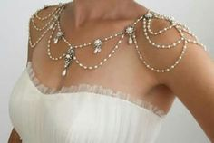 Necklace For The Shoulders,Backdrop Wedding Jewelry,Victorian,Efrat Davidsohn Gothic Jewelry Necklace for the shoulders Background Necklace by mylittlebride Gothic Jewelry, Pearl Jewelry, Wedding Jewelry, Antique Jewelry, Jewelery, Vintage Jewelry, Jewelry Necklaces, Bling Jewelry, Jewelry Box