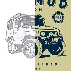 From sketch to final. Fun off-road tee design  #offroad #landcruiser #sketch #apparel #tee #graphic #design #handdrawn #handcrafted #dribbble #hrodesign #type #illustration #art #creative by http://ift.tt/1VU3iBT