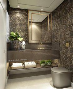 Lavabo todo no Bronze Armani 😍😍 ⠀ ⠀ Autori Diy Bathroom Decor, Bathroom Styling, Bathroom Furniture, Small Bathroom, Master Bathroom, Bathroom Shelves, Bathroom Organization, Bathroom Storage, Bathroom Ideas