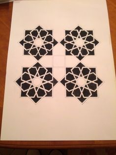 My attempt to make the Breath of the Compassionate Pattern in black and white
