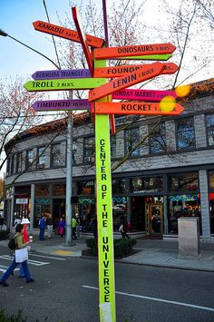 """""""Fremont"""" The Center of the Universe. Great place to go for the Fremont Street Fair."""