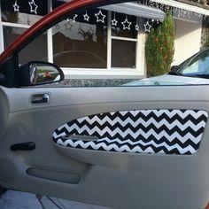 Easy diy car door panel! Super cheap under $15! Car Interior Decor, Door Makeover, Diy Car, Zoom Zoom, Vw Beetles, Panel Doors, Car Stuff, Car Accessories, Chevy