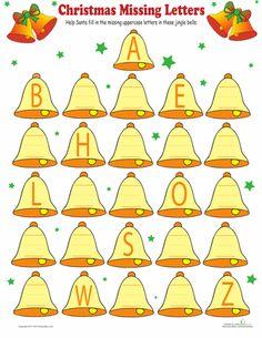 Worksheets: Christmas Alphabet  done 10/12