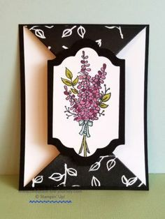 Lots of Lavender card created by Ginny Harrell Celebrate the Journey – Stampin' Up Demonstrator and Travel Junky Stampin Up Anleitung, Stampin Up Karten, Fancy Fold Cards, Folded Cards, Handmade Birthday Cards, Greeting Cards Handmade, Paper Cards, Diy Cards, Cardmaking And Papercraft