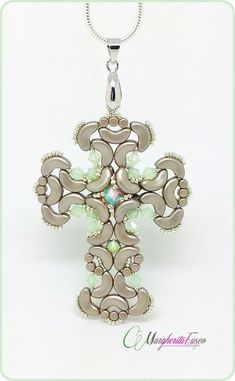 *P Gothic cross pendant pattern. Pdf tutorial with by 75marghe75