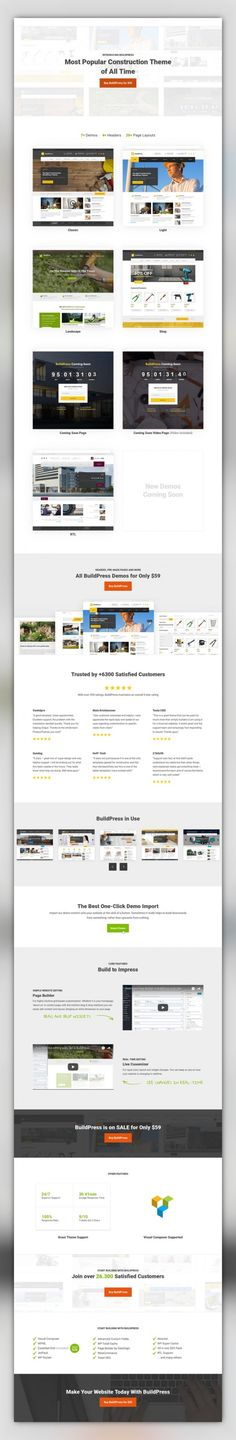 BuildPress - Multi-purpose Construction and Landscape WP Theme architecture, building, business, company, construction, contractor, corporate, engineering, handyman, industry, landscaping, page builder, renovation, responsive, under construction We've built the best premium WordPress theme for construction businesses. Introducing BuildPress – our most advanced theme to date. BuildPress is super simple to set up and use, and is only av...