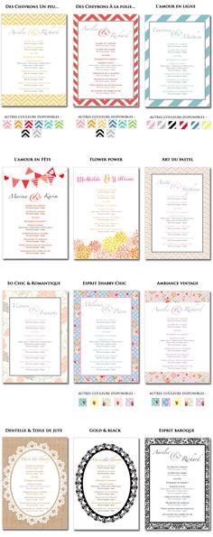 Collection de livrets et programmes de cérémonie laïque à imprimer à la maison (© THE cérémonie)