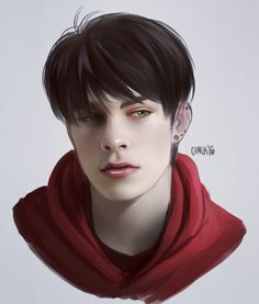 a portrait of an oc! meet jake (name cred to my partner in crime rhyian)  he isn't fleshed out yet.... but we'll get there! #digitalpainting #illust #tatsudaioc #lexyproblems