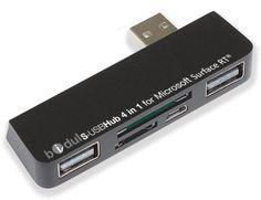 HUB USB y lector de tarjetas de memoria 4 en 1 para Microsoft Surface RT y Pro BIDUL http://www.amazon.es/dp/B00C7613RO/ref=cm_sw_r_pi_dp_CfoMub123FJAQ