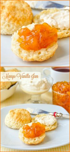 Vanilla Mango Jam, a very simple but elegant little jam that's perfect with scones and cream for teatime or as the filling for a special cake.