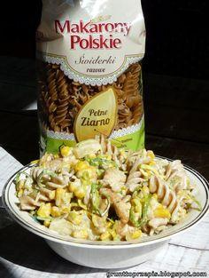Zdrowo, smacznie i dietetycznie! Idealny lunchbox do pracy :) Pasta Salad, Snack Recipes, Lunch Box, Chips, Meat, Chicken, Ethnic Recipes, Food, Pineapple