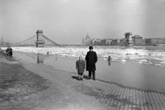 Budapest in January 1945 with the destroyed Chain Bridge over the Danube Old Pictures, Old Photos, Vintage Photos, History Photos, Historical Photos, World War Ii, Hungary, Tao, New York Skyline