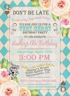 Alice in Wonderland Birthday Party by SweetBeeDesignShoppe on Etsy
