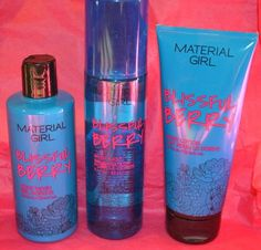MATERIAL GIRL ** BLISSFUL BERRY ** BODY MIST LOTION & WASH 3 PIECE SET #MATERIALGIRL
