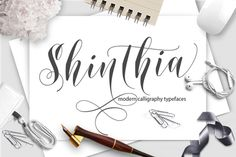 Shinthia Script is a hand calligraphy, smooth, modern and classic, calligraphy wavy, that can be used for the purposes of the next design project.