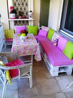 colorful pallet sectional sofa set