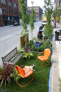 Designated parking spots - Front yard in the city!