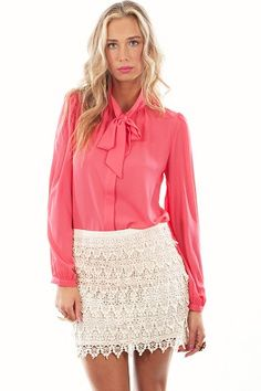 MADEMOD - Tie Up Shirt – Messes of Dresses – $49.50