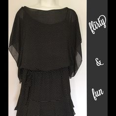 Max Edition Dress  Max Edition Dress. Fully lined. Perfect as dress or as cute tunic over leggings. Black with white polka dots. Fun and flirty. Brand new with tags. Size Medium. Max Edition Dresses