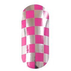 KOOKY Squares Pink & Silver Wraps