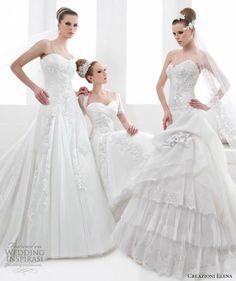 http://weddinginspirasi.com/2013/04/24/creazioni-elena-2013-wedding-dresses/ : We picked these as our top 3 dresses from Creazioni Elena 2013 Wedding Dress Collection.