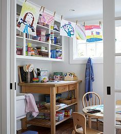 A Kids' Crafts Room - yes please!