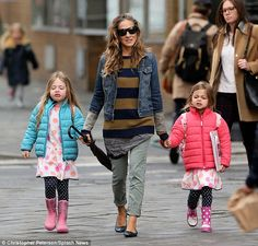 "'Laundry list of issues': Sarah Jessica Parker, pictured with her twins Marion and Tabitha on Tuesday in NYC, tells Glamour, 'I feel ashamed that I haven't served... I always say ""Thank you for your service""'"