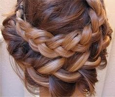 Loose Up Do with Braids