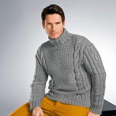 Modell 251/3, Pullover aus Uppland von Junghans-Wolle « Pullover & Pullunder « Herrenmodelle « Strickmodelle Junghans-Wolle « Stricken & Häkeln im Junghans-Wolle Creativ-Shop kaufen