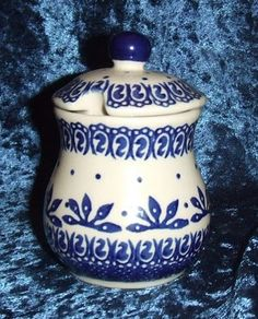 DeCherie Polish Pottery Honey Jar