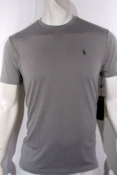 Polo Ralph Lauren men's performance jersey men's T-Shirt color gray new ON SALE #PoloRalphLauren #crewneckteeshirt