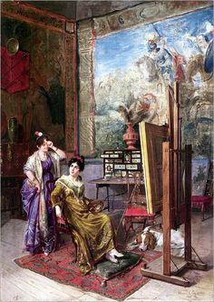 Tema da pintura: Eu sou um (a) pintor (a)!   Artes & Humor de Mulher