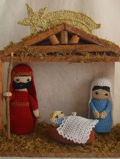 By Clara crochet: Nacimiento a ganchillo.