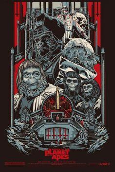 """Affiche originale Mondo """"Beneath the Planet of the Apes"""" (01/27/12) par Ken Taylor, numérotée, taille: 24×36"""" Regular edition of 390 exemplaires au monde.  @asgalerie #asgalerie #mondo #PlanetoftheApes #KenTaylor"""