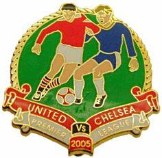 United v Chelsea Premier Match Metal Badge 2004-2005