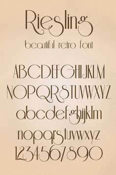 24 Best Free Retro Vintage Style Fonts – Web & Graphic Design on Bashooka Hand Lettering Alphabet, Calligraphy Letters, Typography Letters, Letras Cool, Art Deco Font, Inspiration Artistique, Retro Font, Lettering Styles, Typography Inspiration