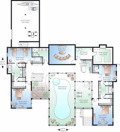 images about Dream Pools on Pinterest   Indoor Pools  Pools    House Plan Indoor Pool  Indoor Pool Floor Plans  Pool House Plans  Indoor Pools  Mansion Floor Plans  House Plans Design  House Plans And More  House Design