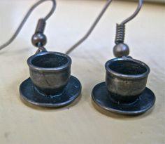 Tea Pot EArrings   Alice in Wonderland Tea Party by pinkflamingo61, $9.00