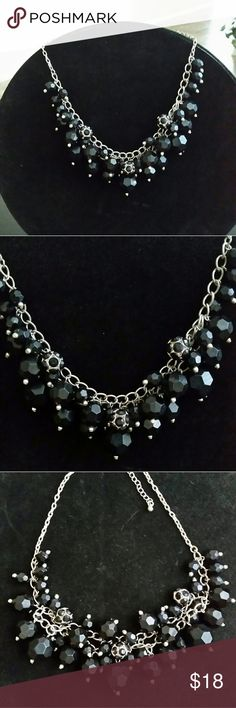 "Lovely black beaded necklace, 18"" Lovely black beaded necklace, 18"" Jewelry Necklaces"