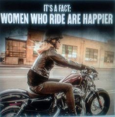 It's a fact...and I'm not talking about backrests or wannabe chicks who have a bike in their garage...parked.
