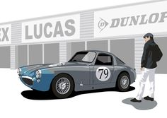 """One of my tiny favourites. Sprites were humble racing royalty"" KB Austin Healey Sebring Sprite"