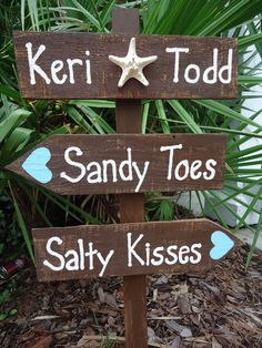 Beach Wedding Directional Sign Beach Wedding by ifTREEScouldTALK, $44.00