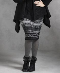 I want this for this winter.  Jeffrey & Paula Fair Isle Knitted Skirt via SimplyBe