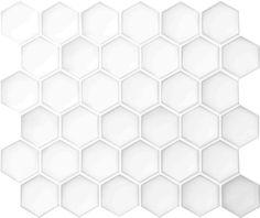 Setto 2- Godai Concave Hex in Gloss White