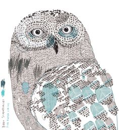 www.pinkpapercircus.com illustration, animals, snowy owl, pink paper circus, fiona biddington