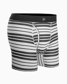 Boho Vintage Vertical Striped Pattern Mens Underwear Soft Polyester Boxer Brief for Men Adult Teen Children Kids S