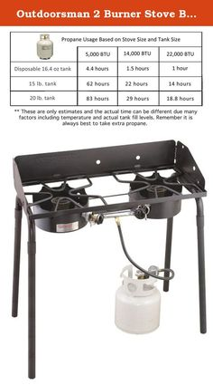 Outdoorsman 2 Burner Stove Black. Camp Chef: The Way to Cook Outdoors When it is time for canning, brewing, seafood boils, or heating large amounts of liquid quickly, the Outdoorsman High Pressure stove is the tool you need. Designed with two high output 60,000 BTU burners, this stove is not your everyday cooker. This durable stove is perfect for preserving your summer harvest and can accomplish all the cold pack canning jobs you can handle. It is also great for brewing, frying, or other...