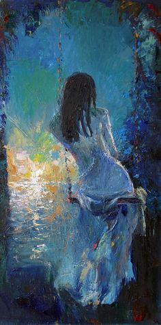 Oil Painting by Mstislav Pavlov, Russian Impressionistic painter born 1967