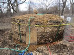 This is a method that turns a compost pile into a water heater or furnace, and creates a great deal of usable compost.  The recent storm that knocked down several trees on the farm has left me with big brush piles.  I'd really like to try this....