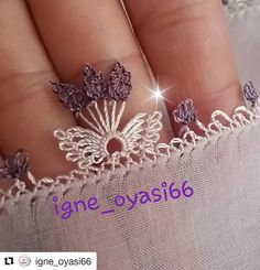 No automatic alt text available. Needle Lace, Instagram Repost, Sewing Techniques, Elsa, Diy And Crafts, Embroidery, Beads, Knitting, Fabric